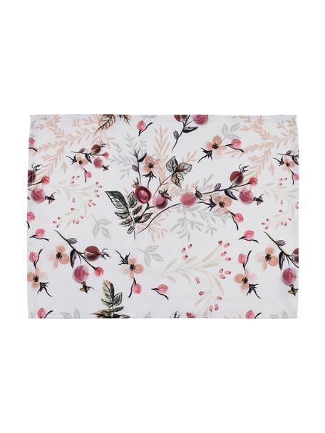 Podkładka z bawełny Beas, 2 szt., Bawełna, Różowy, biały, S 38 x D 50 cm