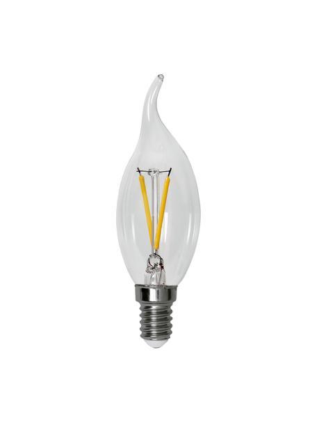 E14 Leuchtmittel, 1.5W, warmweiß, 5 Stück, Leuchtmittelschirm: Glas, Leuchtmittelfassung: Aluminium, Transparent, Ø 4 x H 12 cm
