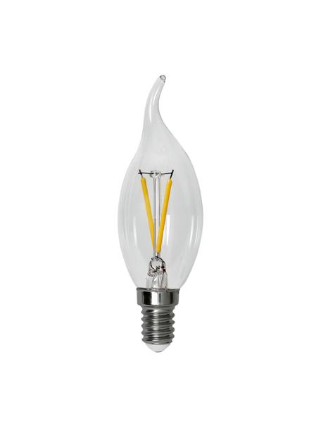 E27 peertje, 4 watt, dimbaar, warmwit, 1 stuk, Peertje: glas, Fitting: aluminium, Transparant, Ø 4 x H 12 cm