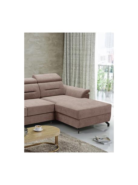 Sofa narożna z funkcją spania i miejscem do przechowywani Missouri (4-osobowa), Tapicerka: 100% poliester, Beżowy, S 259 x G 164 cm