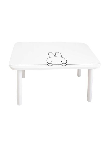 Holz-Kindertisch Miffy, Tischplatte: Mitteldichte Holzfaserpla, Beine: Kiefernholz, Weiß, Schwarz, 75 x 45 cm
