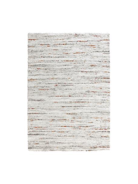 Pluizig hoogpolig vloerkleed Delight met gevlekt patroon in crèmekleur/bruin, Bovenzijde: 100% polypropyleen, Onderzijde: jute, Crèmekleurig, multicolour, B 80 x L 150 cm (maat XS)