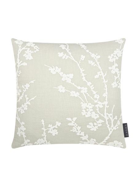 Poszewka na poduszkę Jasmin, Miętowy, biały, S 40 x D 40 cm