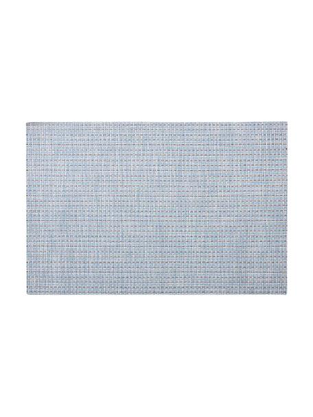 Kunststoff Tischsets Lohan, 2 Stück, PVC, PET, Hellblau, 30 x 45 cm