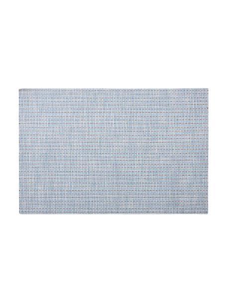 Placemats Lohan, 2 stuks, PVC, PET, Lichtblauw, 30 x 45 cm