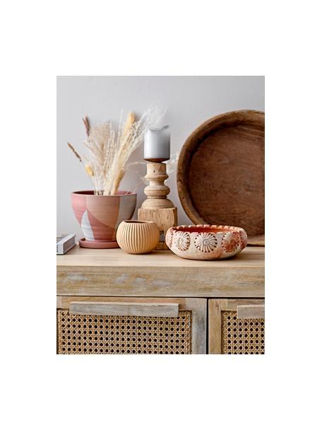 Doniczka z terakoty Abonoa, Terakota, Blady różowy, odcienie łososiowego, złamana biel, Ø 18 x W 16 cm