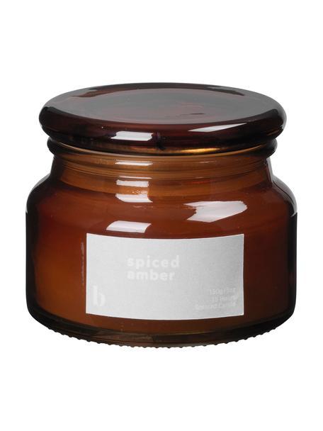 Duftkerze Spiced Amber (Ambra), Behälter: Glas, Braun, Ø 10 x H 8 cm