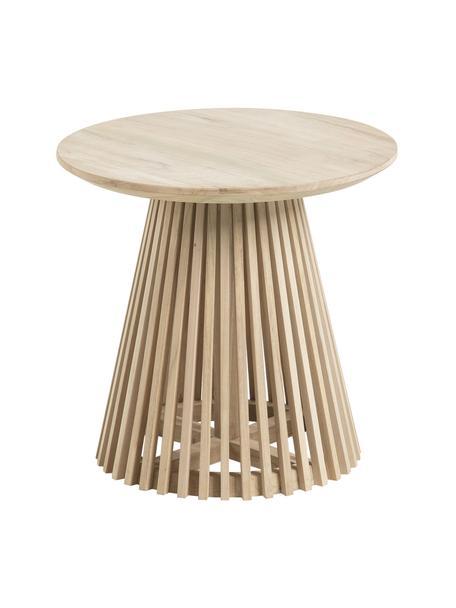 Tavolino rotondo in legno Jeanette, Legno di teak laccato, Legno di teak, Ø 50 x Alt. 48 cm