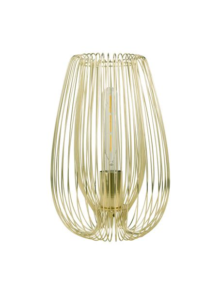 Lámpara de mesa pequeña de metal Lucid, Lámpara: metal pintado, Cable: plástico, Latón, Ø 22 x Al 33 cm