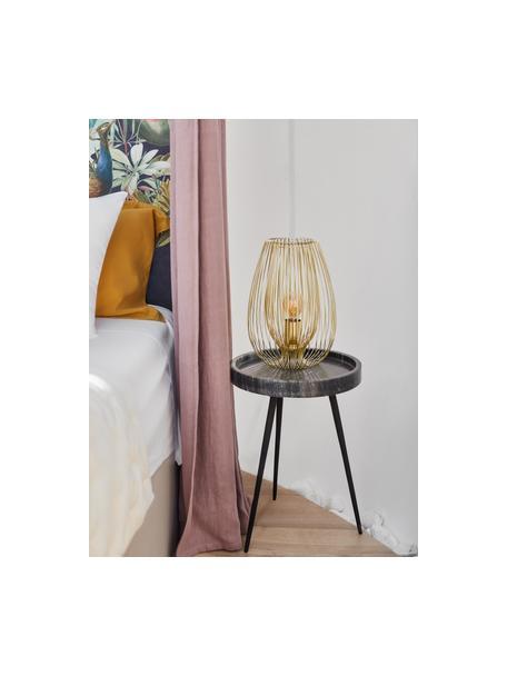 Lampa stołowa z metalu Lucid, Odcienie mosiądzu, Ø 22 x W 33 cm
