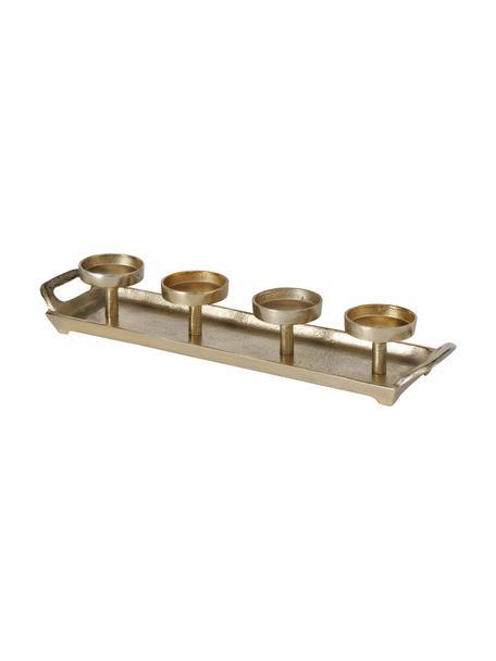 Świecznik Aigna, Metal, Odcienie złotego, S 50 x W 8 cm