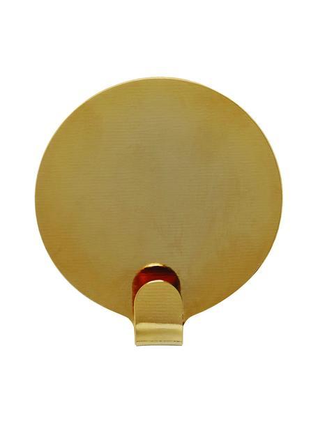 Gancio appendiabiti da parete Ping 2 pz, Metallo verniciato, Color ottone, Ø 5 x Prof. 1 cm