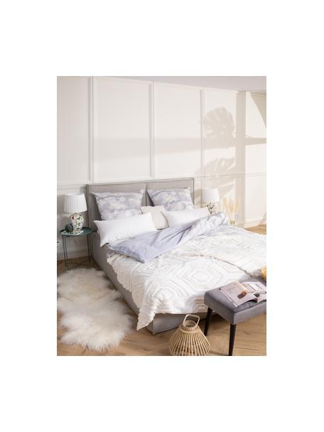 Tagesdecke Faye mit getuftetem Muster, 100% Baumwolle, Weiss, B 160 x L 220 cm (für Betten bis 140 x 200)