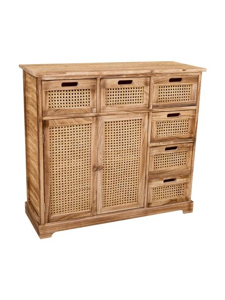 Cómoda Gesina, Estructura: madera de paulownia, Marrón, An 86 x Al 79 cm