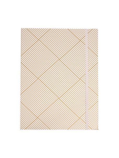 Bindmap Paulina, Goudkleurig, wit, 23 x 32 cm
