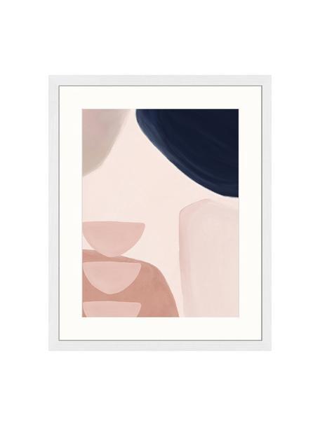 Impresión digital enmarcada Yenge, Multicolor, An 43 x Al 53 cm
