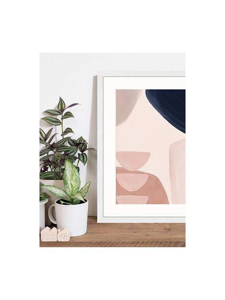 Ingelijste digitale print Yenge, Afbeelding: digitale print op papier,, Lijst: gelakt hout, Multicolour, 43 x 53 cm