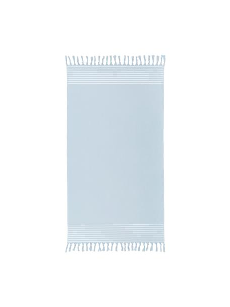 Ręcznik plażowy Freddy, Jasny niebieski, S 100 x D 180 cm