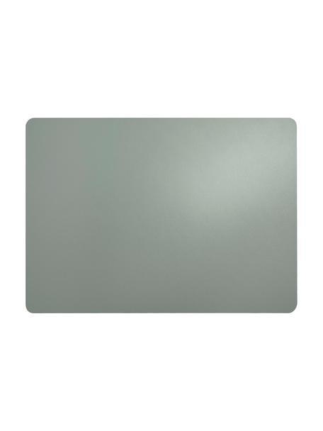 Manteles individuales de cuero sintético Pik, 2uds., Plástico (PVC) es aspecto de cuero, Verde menta, An 33x L 46 cm