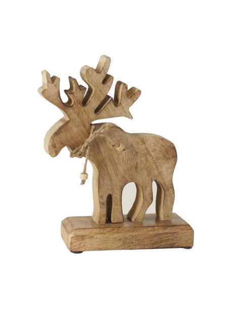 Deko-Elch Forrest aus Holz, Holz, Braun, 18 x 22 cm