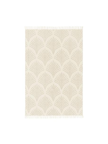 Flachgewebter Baumwollteppich Klara in Beige/Taupe, Beige, B 50 x L 80 cm (Größe XXS)