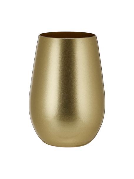 Vasos cóctel de cristal Elements, 6uds., Cristal recubierto, Dorado, Ø 9 x Al 12 cm