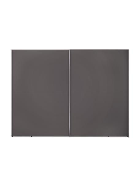 Kledingkast Oliver met 2 schuifdeuren, inclusief montageservice, Frame: panelen op houtbasis, gel, Donkergrijs, 302 x 225 cm