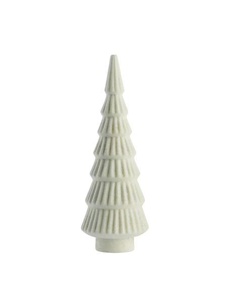 Figura decorativa artesanal pino Jalia, Plástico, Blanco, Ø 7 x Al 20 cm