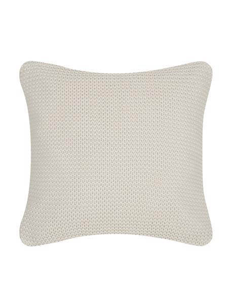 Federa arredo fatta a maglia beige Adalyn, 100% cotone, Beige, Larg. 50 x Lung. 50 cm