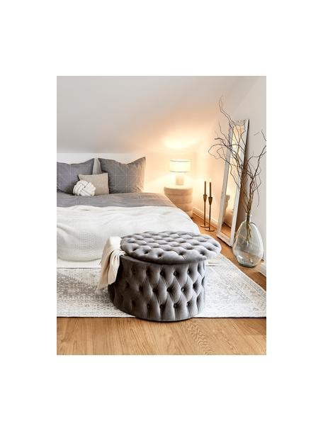 Tischlampe Ron in Beige, Lampenschirm: Textil, Beige, Ø 30 x H 35 cm
