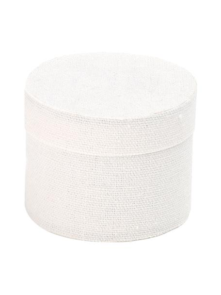 Caja para regalo Round, Algodón, Blanco, Ø 10 x Al 9 cm