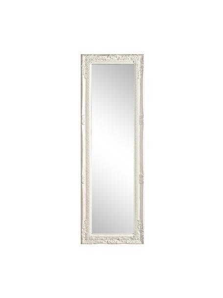 Espejo de pared de madera Miro, Espejo: cristal, Blanco, An 42 x Al 132 cm