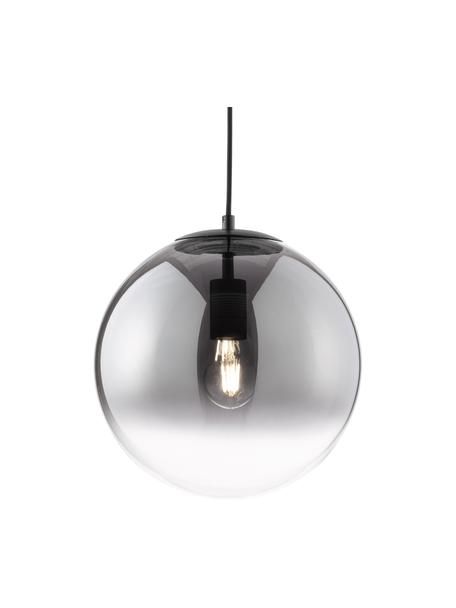 Kleine hanglamp Mirror van glas, Lampenkap: glas, Baldakijn: gecoat metaal, Chroomkleurig, transparant, Ø 30 cm