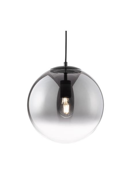 Lámpara de techo pequeña de vidrio Mirror, Pantalla: vidrio, Anclaje: metal, recubierto, Cable: cubierto en tela, Cromo, transparente, Ø 30 cm
