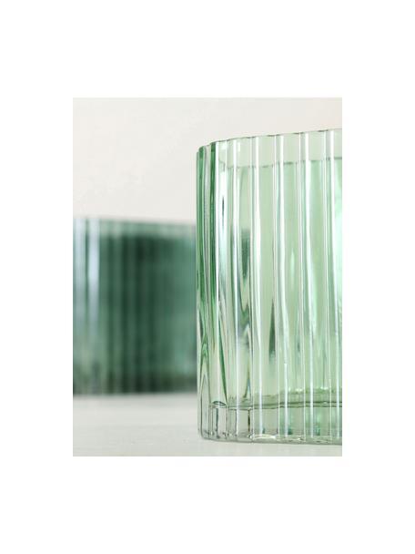 Glazen vazenset Tulipa, 2-delig, Glas, Donkergroen, Set met verschillende formaten