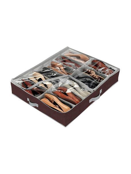 Organizador de zapatos Basos, Fibra sintética, polietileno, Negro, transparente, An 76 x Al 15 cm