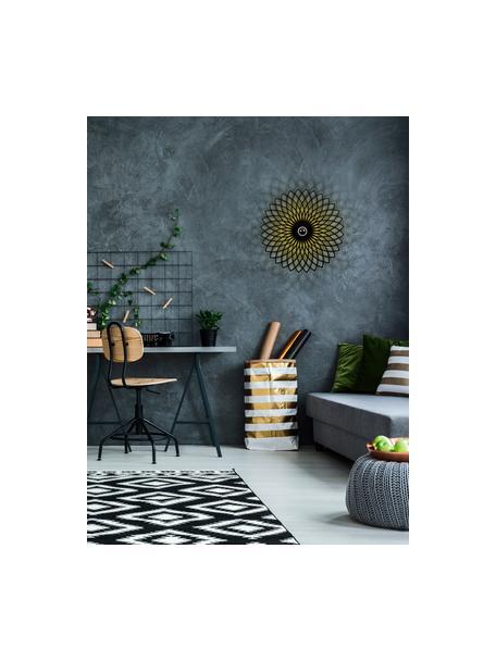 Applique di design da parete e soffitto Fellini, Paralume: metallo rivestito, Nero, Ø 50 x Prof. 12 cm