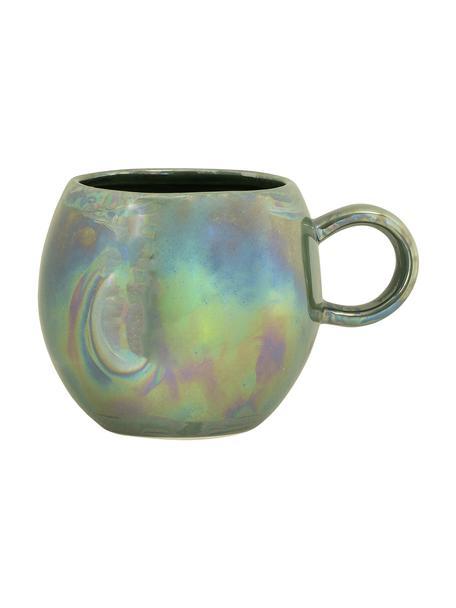 Tasse Pino mit effektvoller Glasur, Keramik, Grüntöne, Ø 9 x H 8 cm