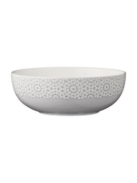 Serveerkom Abella van keramiek, Keramiek, Grijs, wit, Ø 26 x H 9 cm