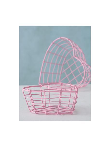 Set de cestas decorativas Rina, 2pzas., Metal recubierto, Rosa, Set de diferentes tamaños