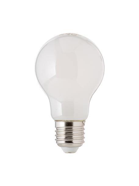 Bombillas regulables E27, 806lm, blanco cálido, 3uds., Ampolla: plástico, Casquillo: aluminio, Blanco, Ø 6 x Al 10 cm