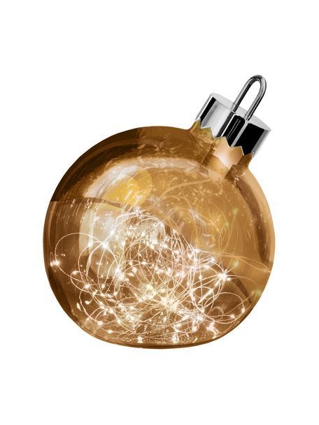 Bola de Navidad luminosa LED Aggia, funciona a pilas, Latón, Ø 20 x Al 22 cm