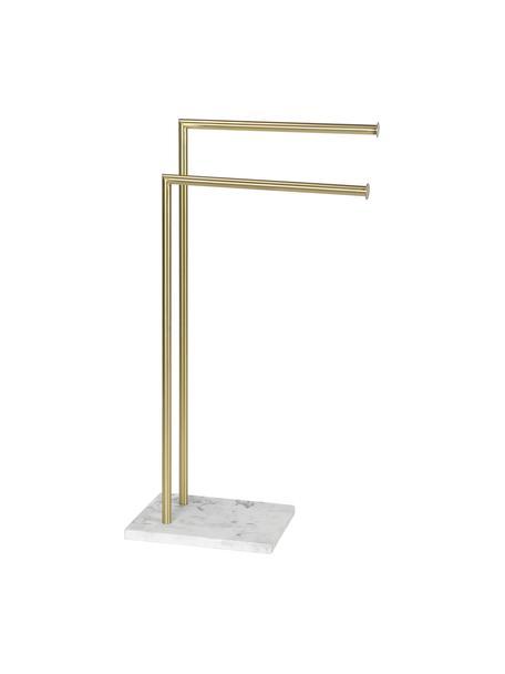 Portasciugamani Albany, Asta: metallo rivestito, Ottonato, bianco, Larg. 25 x Alt. 83 cm