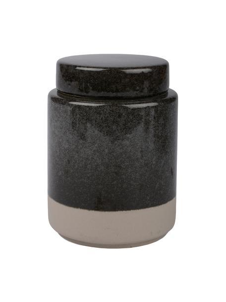 Contenitore Grego, Ceramica, Grigio scuro, beige, Ø 9 x Alt. 13 cm