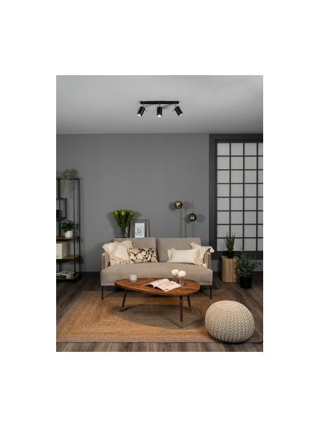 Faretti da soffitto neri Etna, Paralume: acciaio verniciato, Baldacchino: acciaio verniciato, Nero, Larg. 45 x Alt. 15 cm