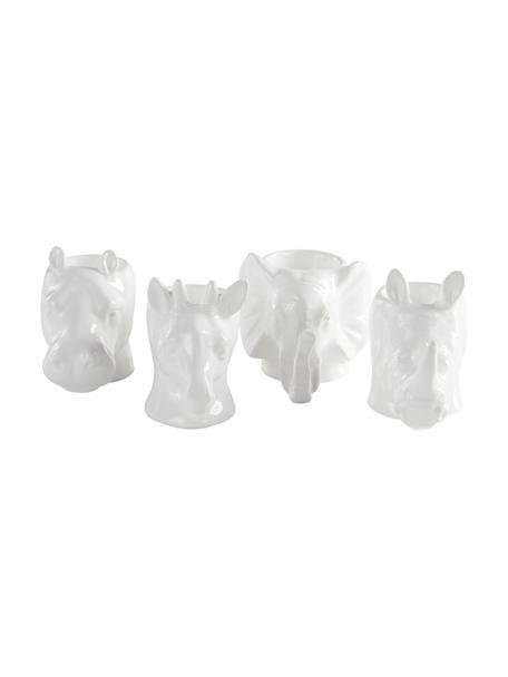 Set de soporte de huevo Dion, 4uds., Porcelana (dolomita), Blanco, An 9 x Al 9 cm
