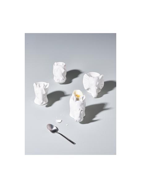 Eierbecher-Set Dion in Tiermotiven, 4er-Set, Porzellan (Dolomit), Weiß, 9 x 9 cm