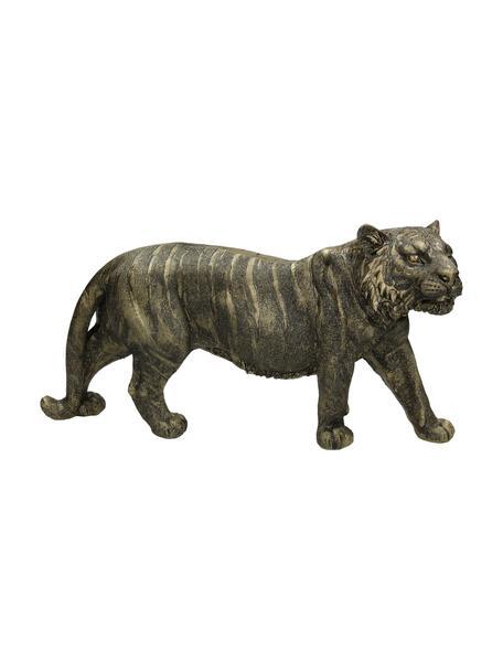 Dekoracja Tiger, Poliresing, Odcienie złotego, czarny, S 33 x W 18 cm