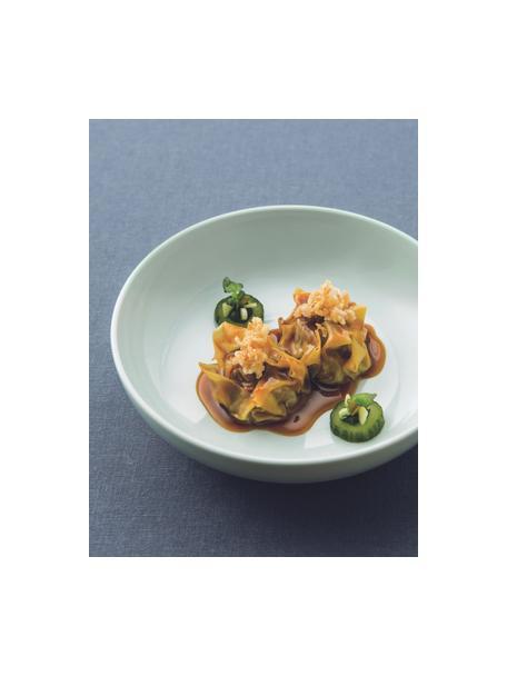 Porseleinen soepborden Kolibri in glanzend mintgroen, 6 stuks, Porselein, Mintgroen, Ø 24 cm