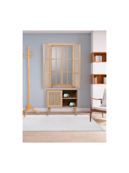 Komoda z drewna Cayetana, Korpus: płyta pilśniowa średniej , Nogi: drewno bambusowe, lakiero, Brązowy, S 80 x W 67 cm
